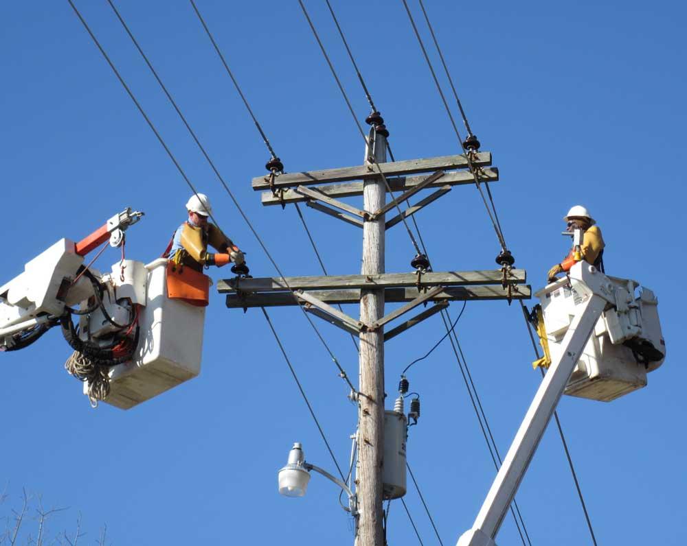 монтаж сетей высокого напряжения